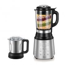 美的(Midea)破壁机 家用豆浆机 榨汁机 料理机 双杯BL1061A 银色