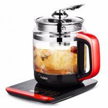 美的(Midea)养生壶1.5L多功能电水壶煮茶煎药壶加厚玻璃分体式全自动防干烧 深红 GE1703c