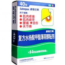 日本薩隆巴斯復方水楊酸甲酯薄荷醇貼劑40貼